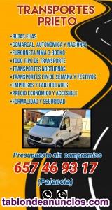 Transportes baratos furgón MMA 3300