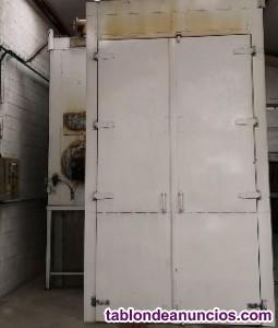 Ganga maquinaria pintura en polvo, horno de 7m, filtro absoluto, electrostica