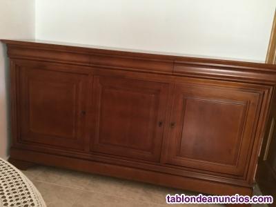 Aparador y mueble para tv clásicos en madera cerezo