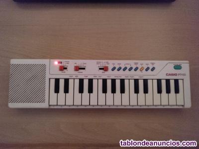 Piano/teclado Casio PT 10 blanco