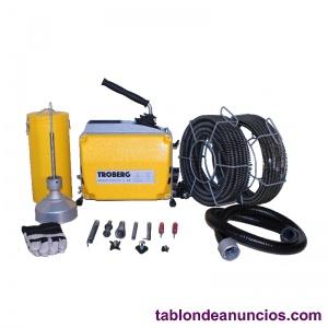 Desatascador Eléctrico D-150 Con Espirales Y Herramientas 8/16/22 mm