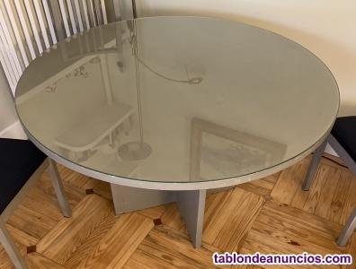 Conjunto mesa moderna y 4 sillas