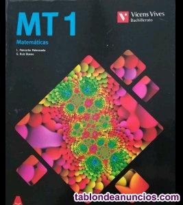 Libro Matemáticas 1º Bachiller