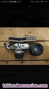 Vendo mitica cámara Olympus OM-1 + Objetivos