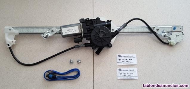 Elevalunas izquierdo eléctrico de 24v. Nissan atleón, -80701-9x60a