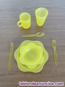 Set vajilla de plástico