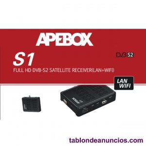 Receptor satélite (lan + wifi) APEBOX S1