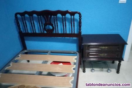 Vendo cama individual con somier de láminas