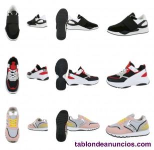 Lote 59 pares zapatillas deportivos mujer