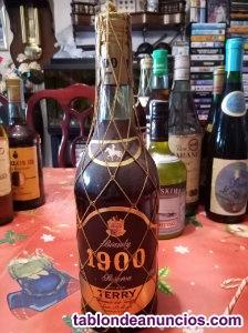Botella de brandy 1900 de terry muy antigua