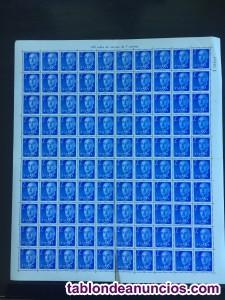 Pliegos 100 sellos franco