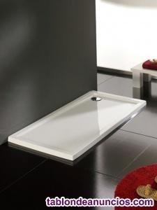 Vendo 4 platos de ducha 80 x 120 x 5,5 cm color blanco