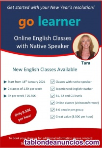 Clases de inglés online con nativa