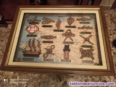 Baúl pequeño con decoración marinera