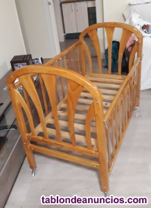 Cuna de madera para bebé 110x60
