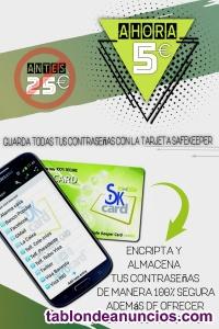 Super oferta -tarjeta guarda-contraseñas
