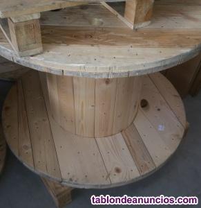Bobinas de madera mesa
