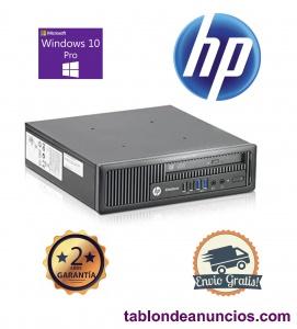 Ordenador HP 800 G1 USDT GRADO B 4gb 120 gb con WINDOWS 10 PRO - GARANTIA 2 AÑOS
