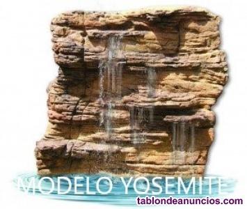 Cascada para piscina de roca para pared yosemite