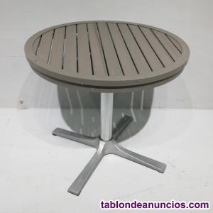 Mesa terraza aluminio ø90cm