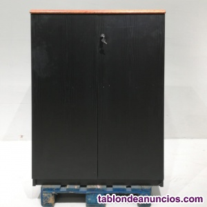 Armario negro melamina 94x55x135cm