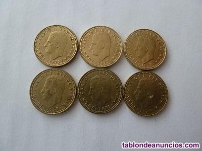 Colección completa de 1 peseta año 1975