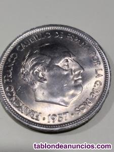50 pesetas año 1957 estrella 59