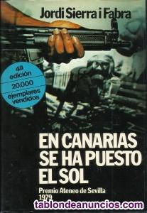 """Libro """" En Canarias se ha puesto el sol """""""