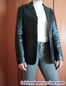 Blazer chaqueta 100% de cuero