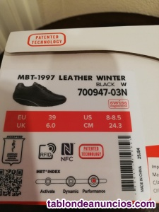 MBT nuevos modelo 1997 Leather Winter Negro nº 39