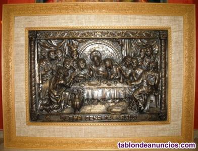 Vendo ultina cena de jesus alto relieve muy antiguo