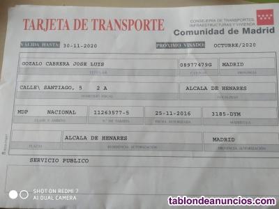 Vendo tarjeta de transporte camión pesado MDP 2006