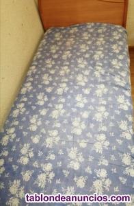 Cama individual y colchón