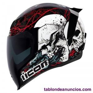 Casco moto IICON AIR FLITE SKULL 18 (nuevo)