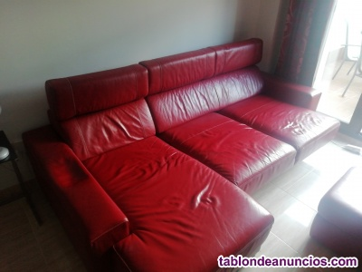 Sofá chaise longe de piel. Tlf. 620446404
