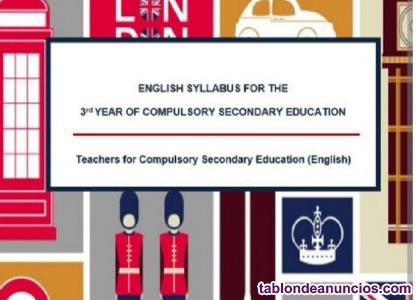Programación y unidades didácticas oposiciones Inglés Secundaria