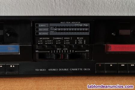 Doble pletina cassette stereo jvc