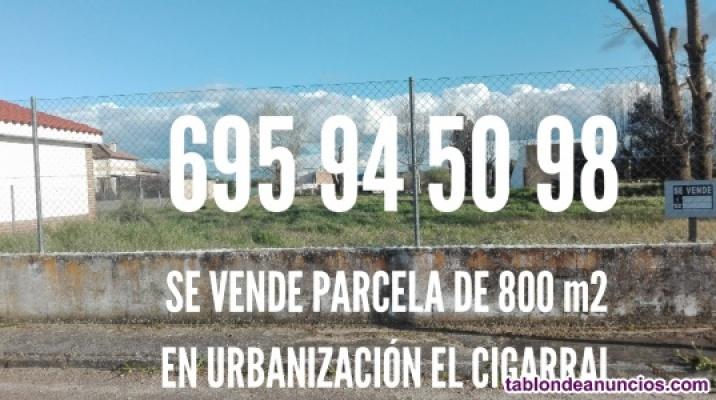 Parcela urbana de 800 m2