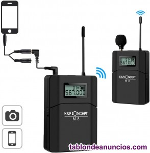 Micrófono Inalámbrico UHF Wireless K&F Concept M-8 Lavalier