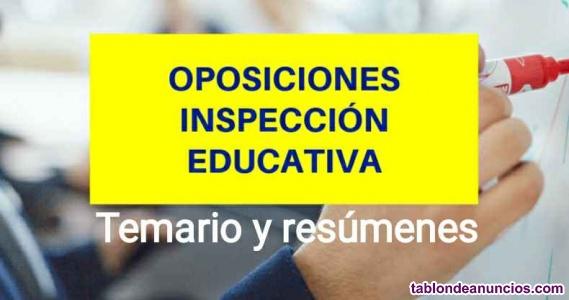 Temario Inspección Educativa