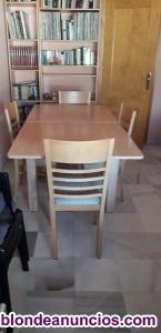 Mesa extensible y sillas comedor