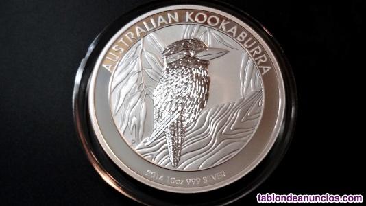 Moneda 10 onzas kokaburra. 2014