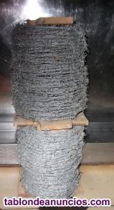 Ultimo lote de alambre de espinos de 100 mtr. C/u
