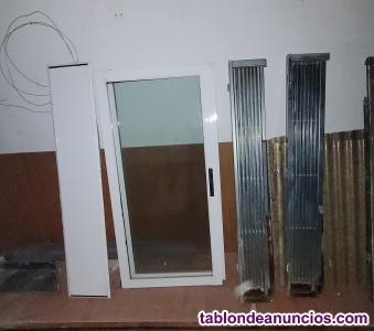 Venta ventana de aluminio más reja de vallesta