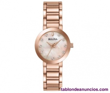 Reloj Bulova  para Dama 11 Diamantes Color: Rosa