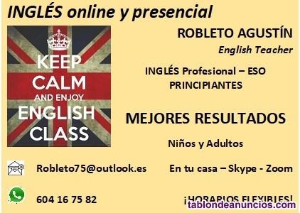 Clases de Inglés online.