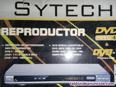 Reproductor dvdmpeg4 y dvb-t. Sytech