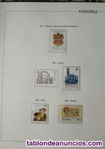 Sellos nuevos de colección Andorra. Año 1987