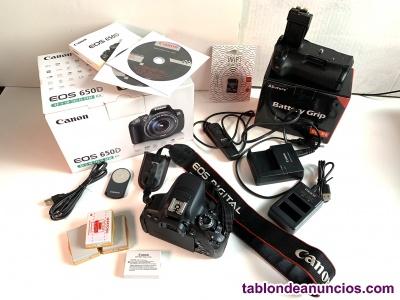 Vendo Canon CUERPO EOS 650D (con accesorios)