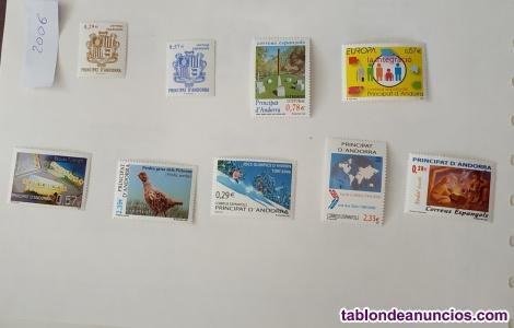 Sellos nuevos de colección de Andorra. Año 2006